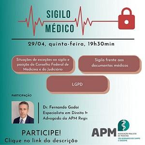 Sigilo Médico - 29 de abril - 19h30